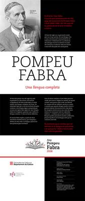 Exposició sobre l'any Pompeu Fabra
