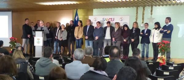 L'alcalde de Salou, i la Corporació municipal, feliciten les festes als funcionaris de l'Ajuntament