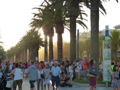 L'alcalde mostra el seu malestar per l'autorització d'una manifestació a la zona turística, al passeig Jaume I