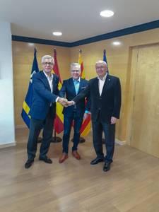 Salou, Reus i Tarragona escenifiquen màxima unitat per reivindicar l'estació intermodal i el nou desplegament ferroviari