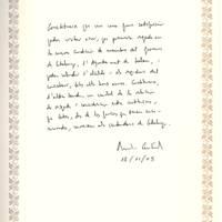 Antoni Castells, conseller d'Economia i Finances, 18-11-2005