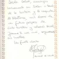 Il·lm. Sr. Alfonso Rodríguez Badol, Alcalde Ajuntament de Calvià (Mallorca), 8-9-2016