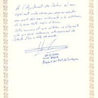 Lluis Badia, President del Port de Tarragona, 28-1-2000