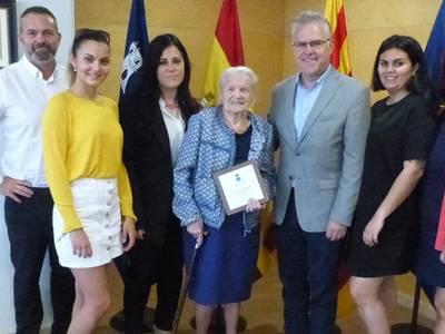 Salou homenatja Clementine Germaine Bruneau, àvia centenària del municipi