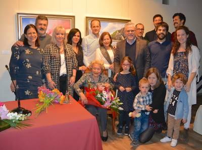 Salou homenatja la Maria Teresa Bargalló Gendre, la dona gran, en el marc de la Festa Major d'hivern