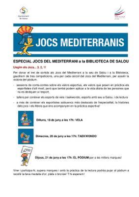Els més petits tindran el seu propi pòdium dels Jocs del Mediterrani a la Biblioteca Municipal de Salou