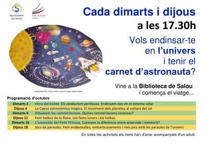 L'activitat del contacontes de l'espai infantil de la biblioteca de Salou es trasllada als dimarts i dijous per la tarda