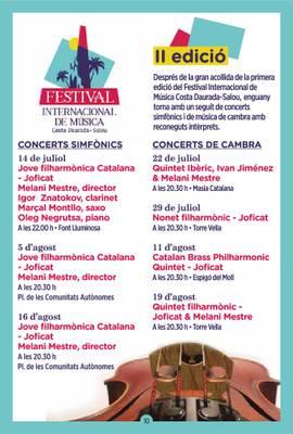 Programa Festival Internacional de Música Costa Daurada