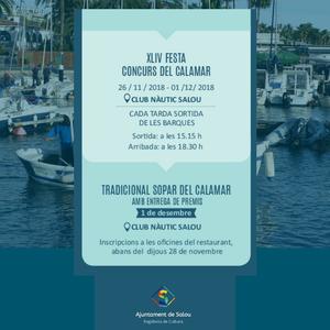 Dilluns arrenca una nova edició de la Festa del Calamar a les aigües de Salou