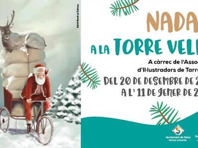 El Nadal arriba a la Torre Vella de Salou de la mà de l'Associació d'Il·lustradors de Tarragona