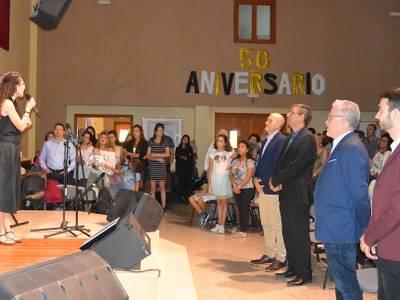 L'alcalde Pere Granados assisteix a la commemoració del 50è aniversari de l'Església Protestant de Salou