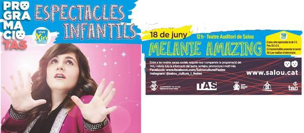 Melanie arriba a Salou amb un espectacle familiar de màgia que no deixarà indiferent a ningú