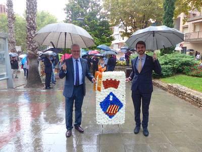 Salou celebra la Diada Nacional de Catalunya amb bona participació de les entitats i la ciutadania, malgrat la pluja