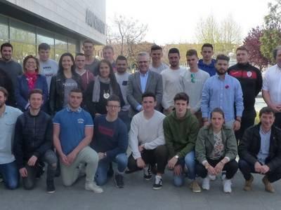 L'alcalde rep un grup de joves de Lycée Agricole Toulouse-Auzeville