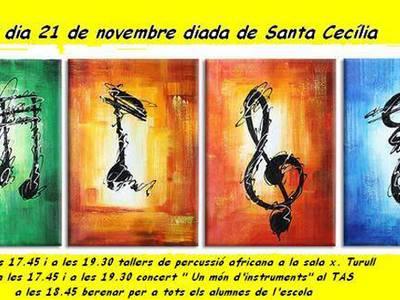 L'Escola Municipal de Música de Salou coneix d'aprop la cultura africana en mans de la companyia Khan Cartrö per la Diada de Santa Cecília