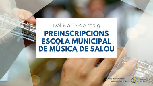 L'Escola Municipal de Música de Salou obre el calendari de preinscripció i matriculació