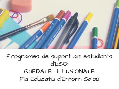 La regidoria d'Ensenyament inicia un programa de classes de suport a alumnes d'ESO en el marc dels programes 'Ilusiónate' i 'Quédate'