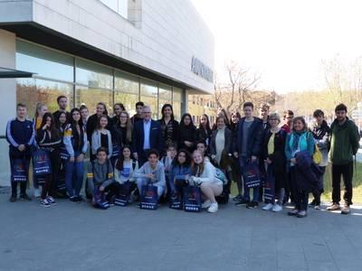 Salou dóna la benvinguda a un grup d'alumnes alemanys d'intercanvi amb l'Institut Marta Mata