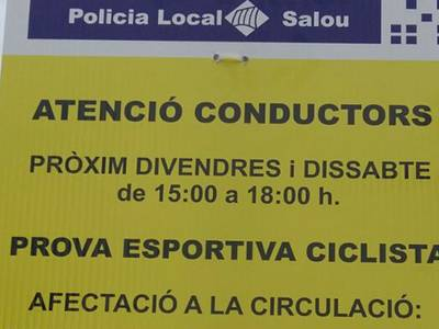 Afectacions de trànsit a la zona de Cap Salou per la Copa d'Espanya de ciclisme de Policies i Bombers
