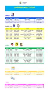 Calendari de competicions esportives del cap de setmana 19-20 de gener a Salou