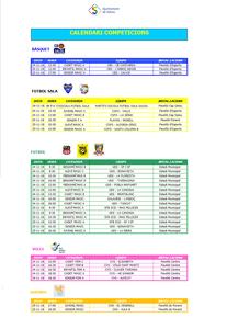 Calendari de competicions esportives del cap de setmana 24/25 de novembre a Salou