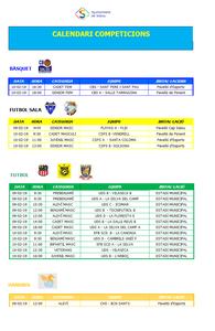 Calendari de competicions esportives del cap de setmana 9-10 de febrer a Salou