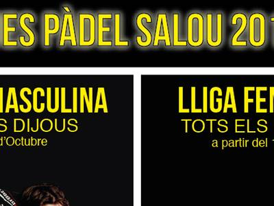 L'Ajuntament de Salou obre inscripcions per a la 1ª Lliga de Pàdel Salou 2017-18