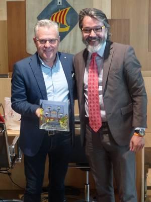 L'alcalde de Salou, junt amb l'alcalde de Brunete