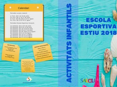 S'inicia la matrícula per a les activitats d'estiu de la piscina municipal i casals esportius d'estiu