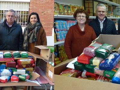 Cáritas i Eluzai reben més de 350Kg d'aliments solidaris obtinguts en el dia solidari del Parc Infantil de Nadal