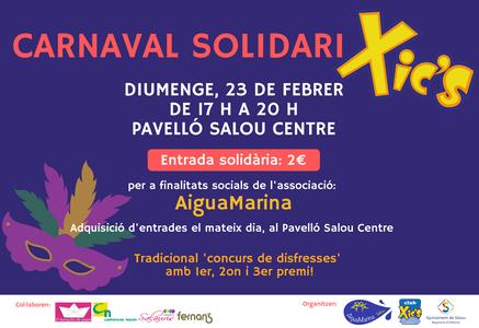 El Carnaval Xic'S arriba a Salou amb un caràcter solidari a favor de l'Associació AiguaMarina