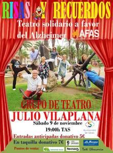 El Grup de Teatre Julio Vilaplana estrena demà dissabte l'obra solidària 'Risas y recuerdos', a favor de l'Associació de Familiars d'Alzheimer de Salou (AFAS)