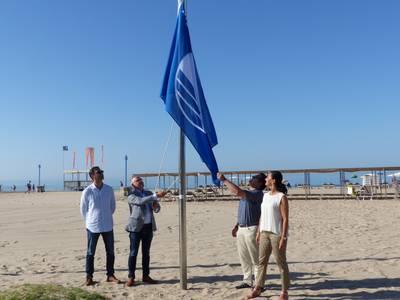 bandera blava Platja Llevant.JPG