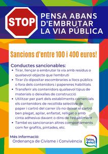 L'Ajuntament de Salou tramita una quinzena de multes per abocaments incívics a la via pública