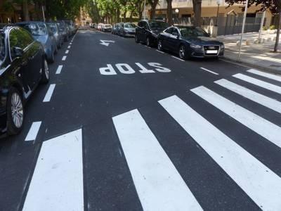 L'Ajuntament renova l'asfaltat i la senyalització horitzontal als carrers Nord, Logronyo i Sínies