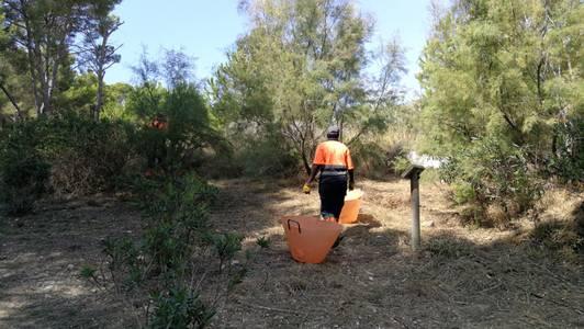 La brigada municipal neteja el sotabosc de diversos punts de Cap Salou