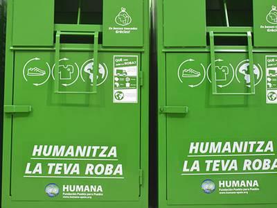 La capital de la Costa Daurada dóna 24 tones de roba usada  a Humana per a dotar-les d'una finalitat social