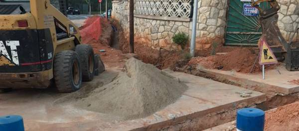 S'inicia el canvi de les canonades d'aigua potable al carrer Murillo per millorar el rendiment de la xarxa