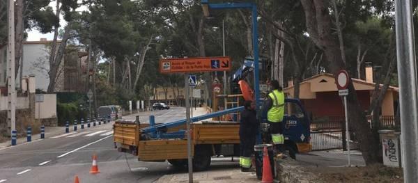 Salou encara la recta final de les obres de renovació de l'enllumenat públic a la Carretera de la Costa