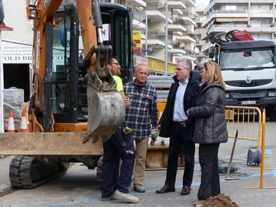 Salou executa el projecte de millora de la vorera del carrer Rioja i Barbastre
