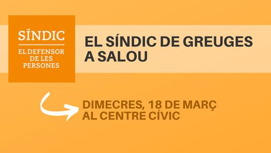 El Síndic de Greuges serà a Salou el proper dimecres, 18 de març