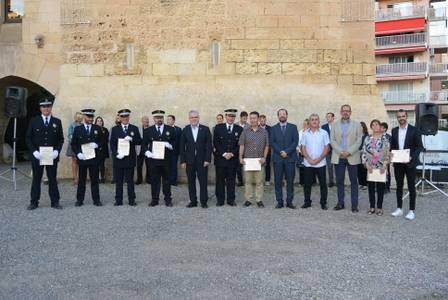 La Policia Local de Salou torna a celebrar la festivitat de Sant Miquel, el seu patró, a la Torre Vella