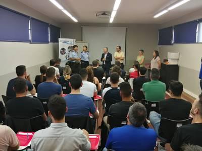Avui s'ha dut a terme l'inici del curs de formació impartit per l'Institut de Seguretat Pública de Catalunya a la caserna de policia de Salou
