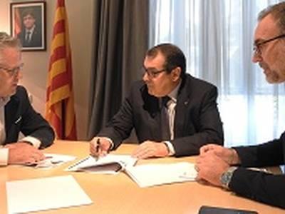 El conseller d'Interior es reuneix amb l'alcalde de Salou per tractar la seguretat del municipi