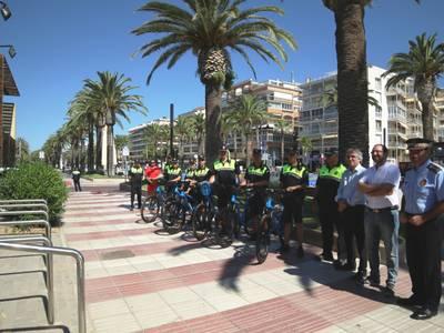 La Policia de Platja renova l'equipament aquesta temporada d'estiu amb sis bicicletes
