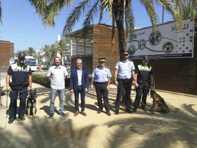 La Policia Local de Salou presenta la seva unitat canina