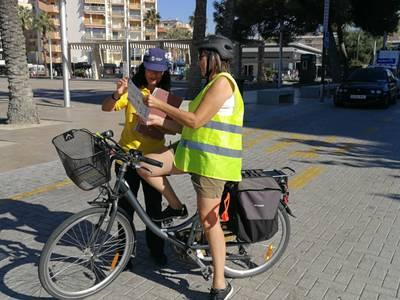 La Policia Local de Salou presenta una nova campanya de conscienciació per la conducció correcta i segura de bicicletes
