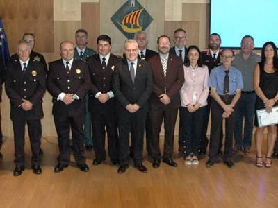 Salou celebra el Dia de la policia amb un ampli reconeixement als cossos de seguretat i societat civil