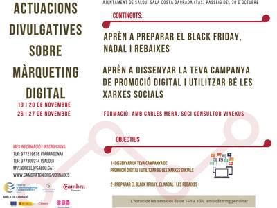 L'Ajuntament de Salou ofereix sessions de màrqueting per afrontar amb èxit el Black Friday, Nadal i Rebaixes als comerços locals