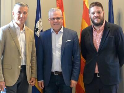 L'alcalde de Salou i president del Patronat de Turisme, Pere Granados, es reuneix amb el tour operador Anex Tour Spain